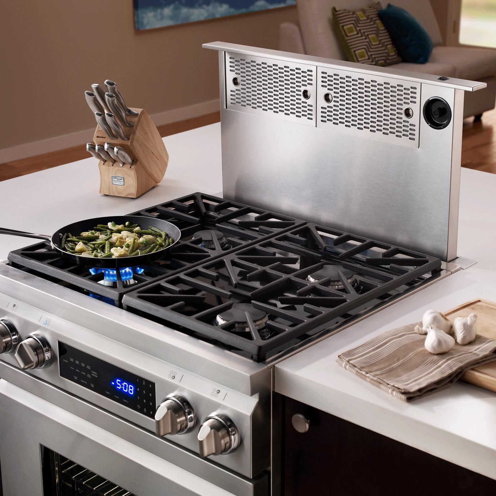 Renaissance 48 46 36 30 Downdrafts Kitchen Island With Stove Kitchen Design Small Best Appliances