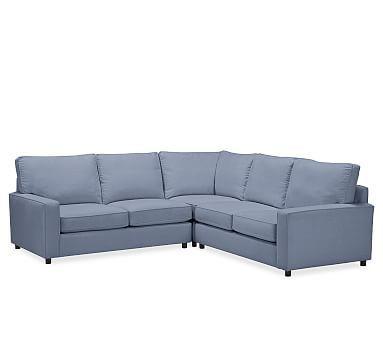Pb Comfort Square Arm Upholstered 3 Piece L Shaped Corner
