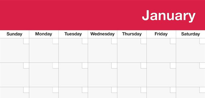 Blank Printable Calendar Templates  Classroom