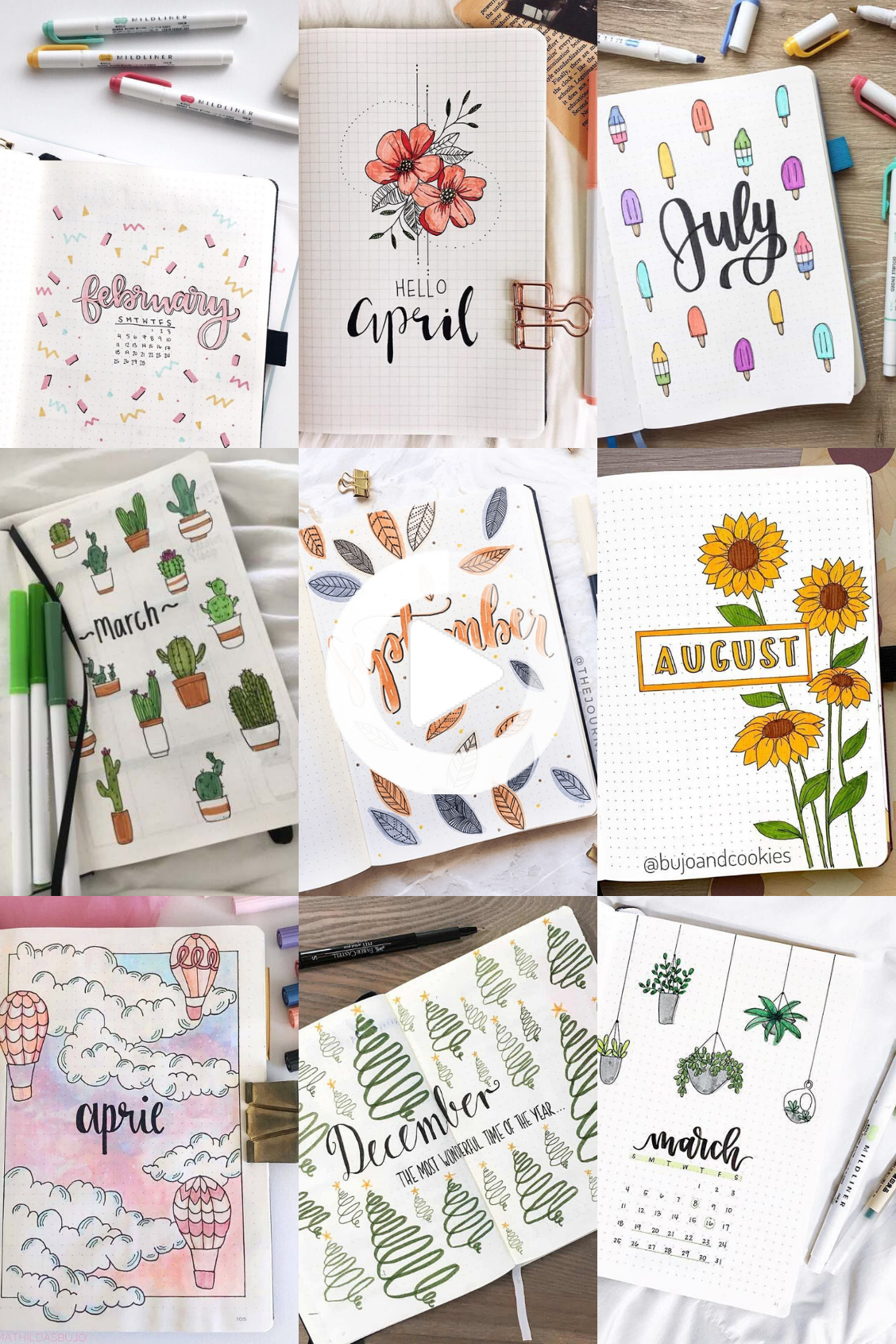 20 Bullet Journal Monthly Cover Ideas You Must Try   Bullet ...