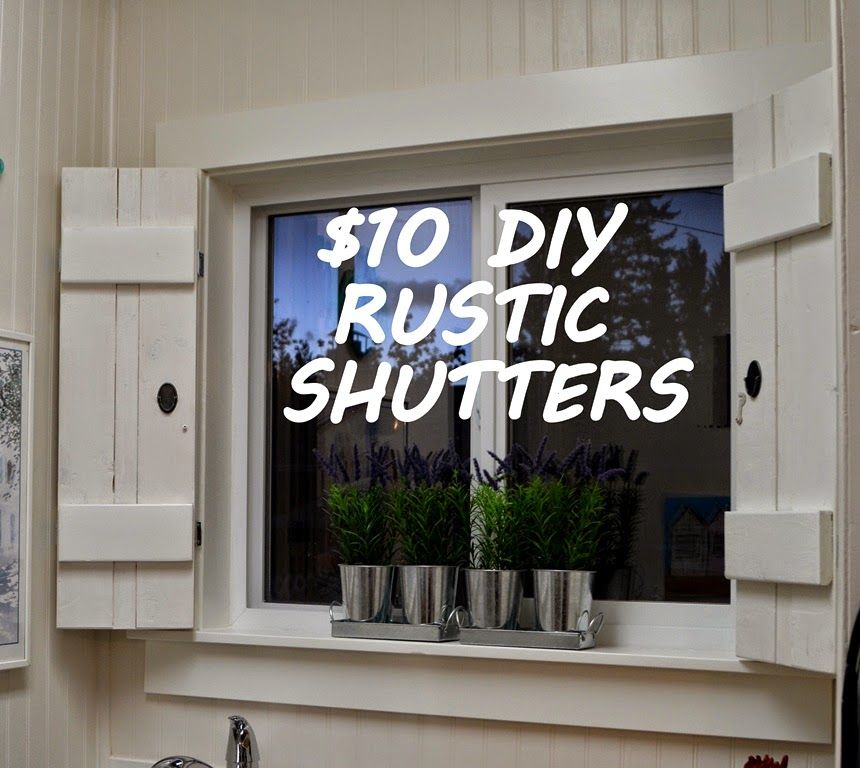 Designdreams By Anne Diy Rustic Shutters For 10