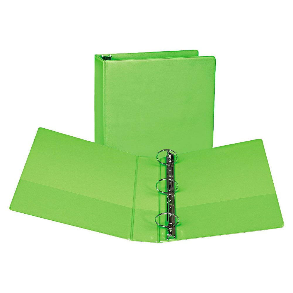 Samsill Fashion View Binder Round Ring 11 X 8 1 2 2 Capacity Lime Green 2 Pack Round Rings Lime Binder