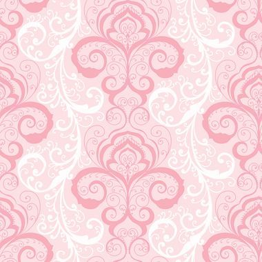 Contemporary Christel Vanessa Henna Brocade Wallpaper In Pink And
