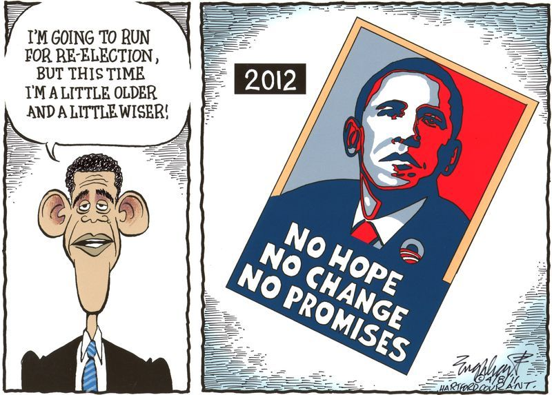 (POLITICAL CARTOON 1) This cartoon shows that if Obama was