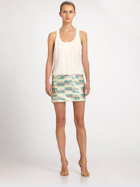 26cae286e9b3 Women's Natural Sequined Dropwaist Dress | Stuff to Buy | Dresses ...