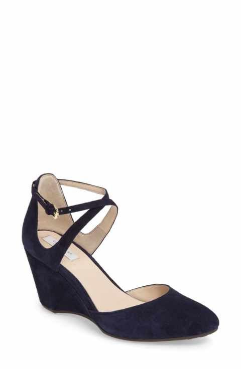 eba4714974d8 Cole Haan Lacey Ankle Strap Wedge Pump (Women) | wedding dresses ...