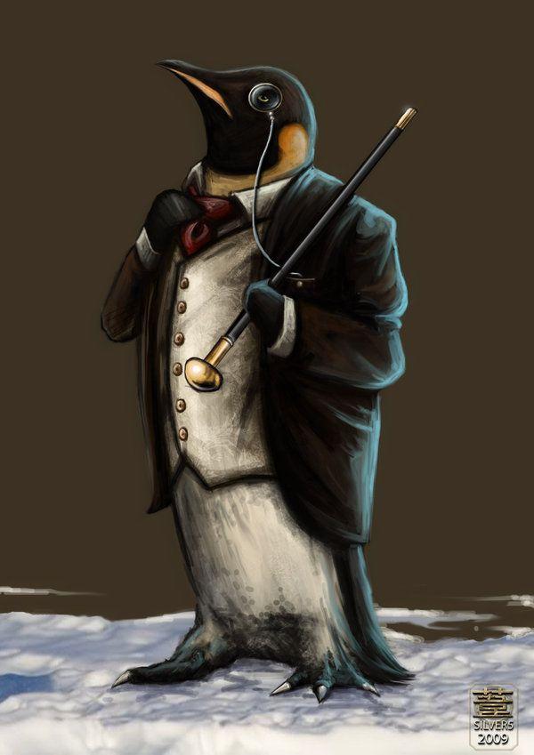 """....penguin?""   catandcrown on deviantART"