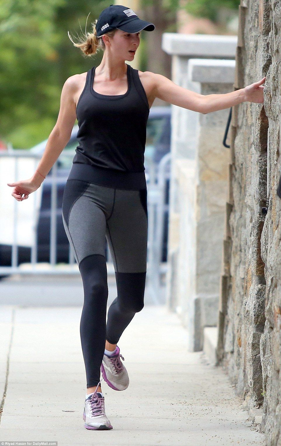 Ivanka Trump Sports Secret Service Hat During A Morning Jog Morning Jog Ivanka Trump Ivanka Trump Style