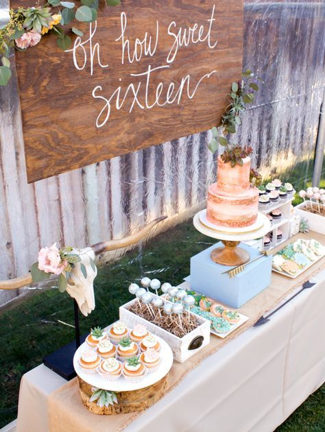 Boho Inspired Party Theme -   12 sweet 16 desserts Table ideas