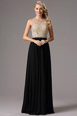 Vestidos largos negro para fiesta