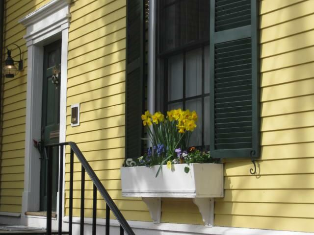 Yellow House Black Door yellow house, black shutters?? | house colors | pinterest