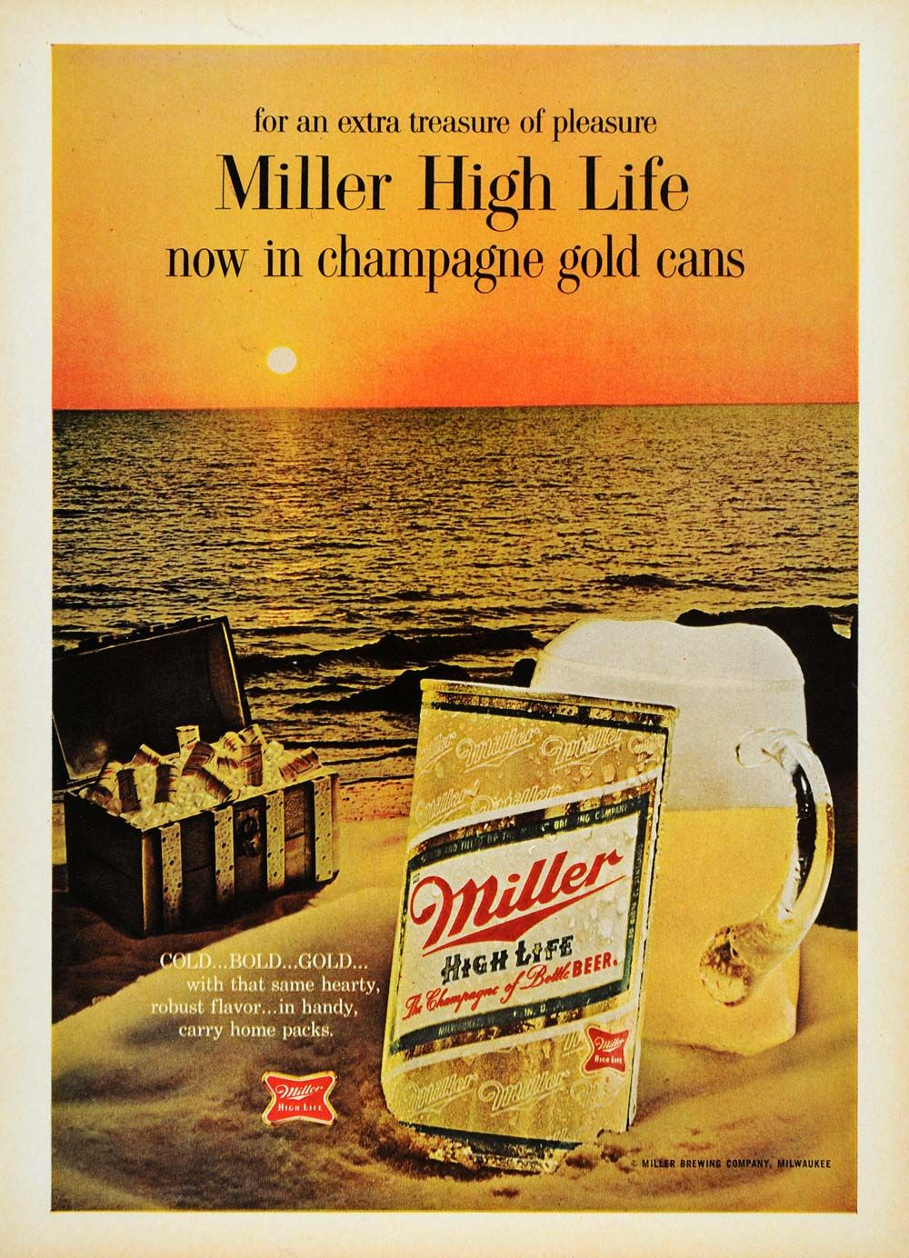 1967 Ad Miller High Life Brewing Company Milwaukee Beer