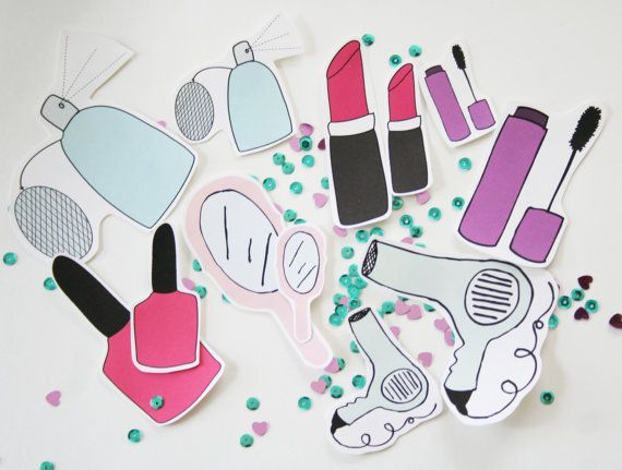 Vanity sticker set by moderngirlblitz on etsy 8 00