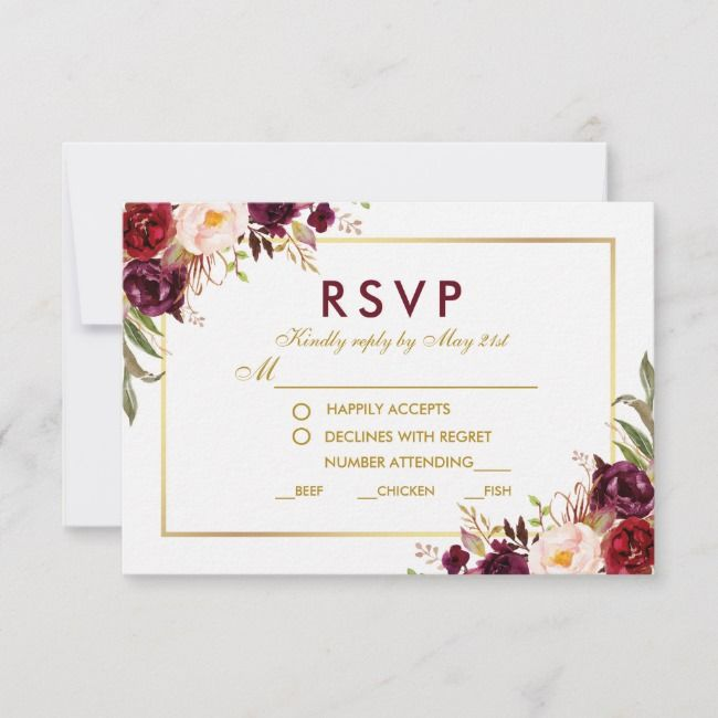 create your own response card  zazzle  rsvp wedding
