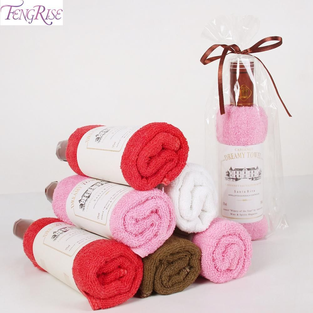 Wine Shape Wedding Birthday Towel Souvenir Giveaway Sewing Design Giveaway Birthday