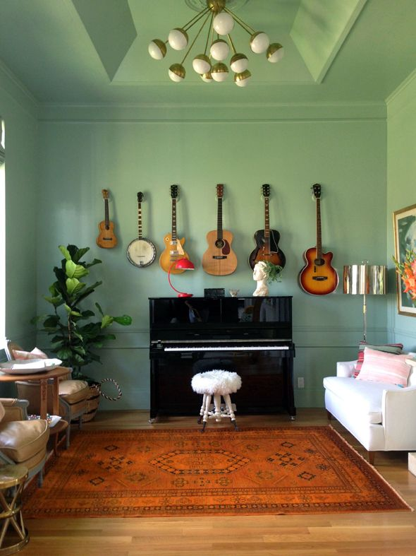Music Studio Room Design: Hang Pete's Guitars All Together In One Place Like This