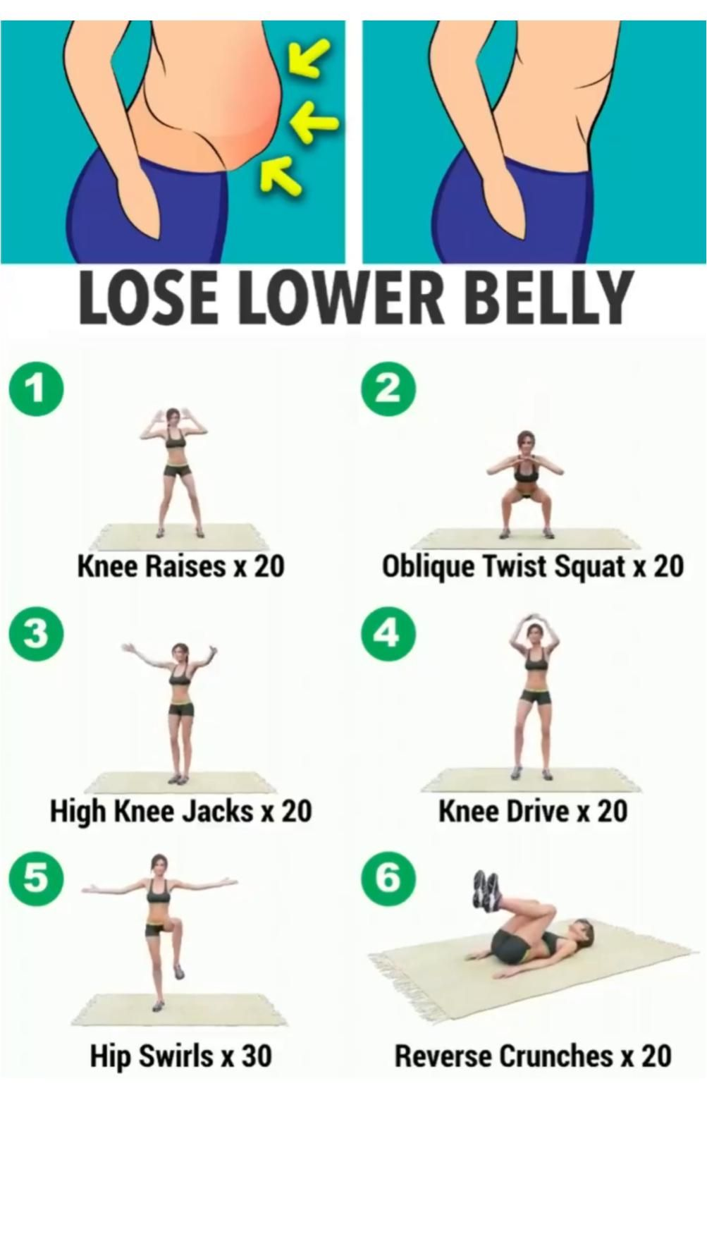 lose lower belly fat with easy exercise at home