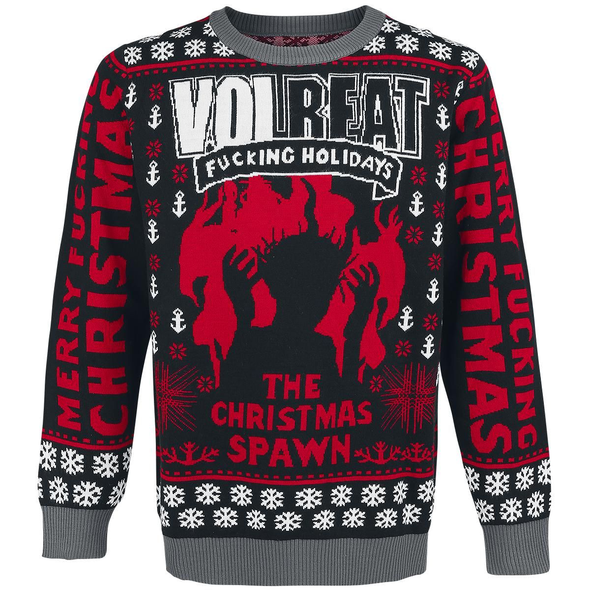 Holiday Sweater 2016 Christmas Jumper By Volbeat Clothing Badly Drawn Tshirt Short Circuit Mens Buy Online At Grindstore