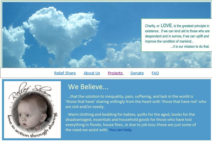 Relief Share is featured on Bernina's website ;-)
