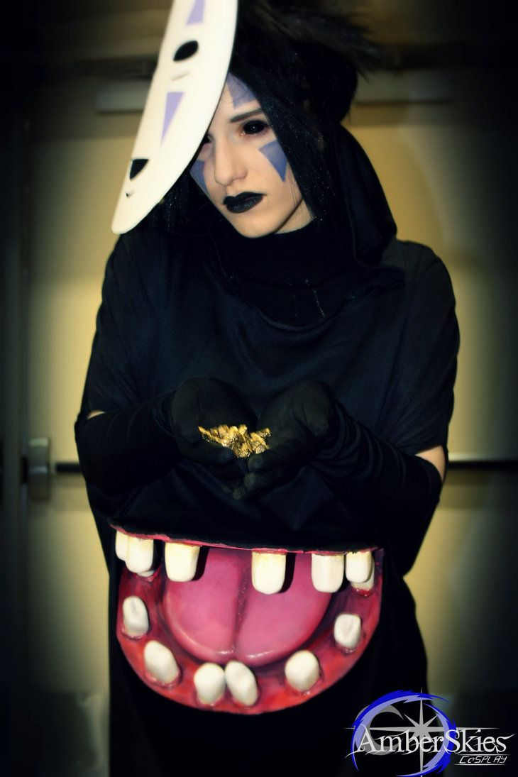 No Face Spirited Away Humanized Design By Amberskiescosplay No Face Costume Amazing Cosplay Spirited Away