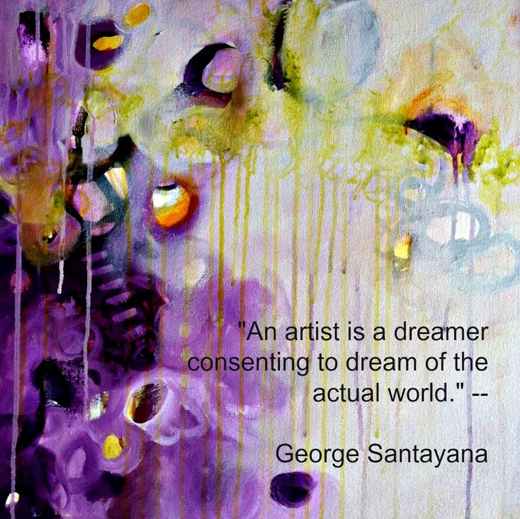 Quote By George Santayana An Enchanted Dream Painting By Jj Jacobs Abstract Minimalist Painting Modern Abstract Painting