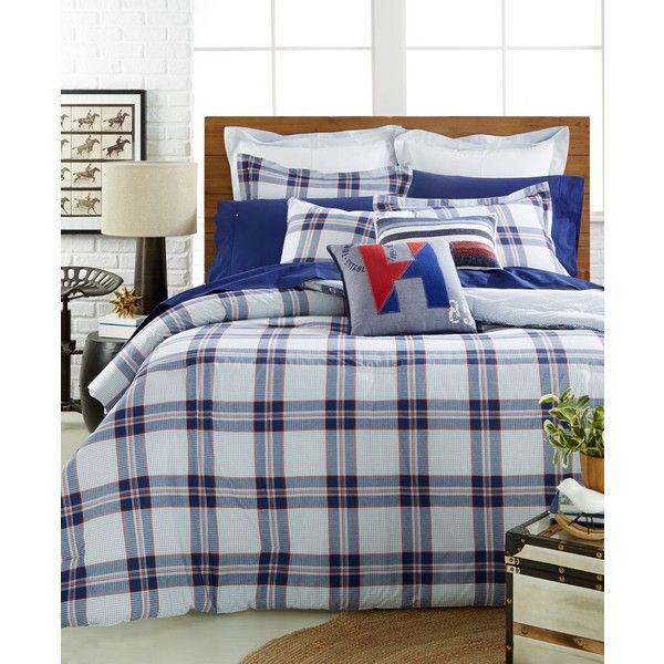 Tommy Hilfiger Surf Plaid Full Queen Comforter Set Plaid Bedding Twin Xl Bedding Sets Blue Comforter Sets