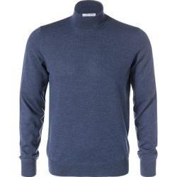 Gran Sasso Rollkragen Pullover Herren, Merinowolle, blau Gran Sasso #trendyspringoutfits