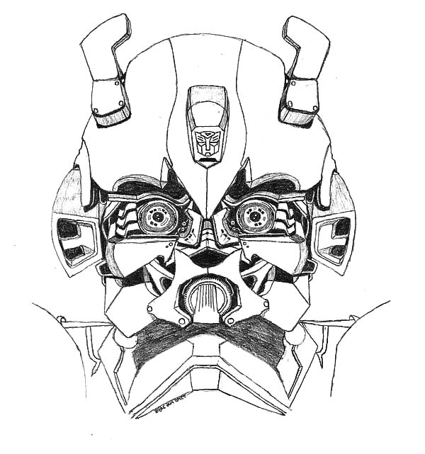 Transformers Bumblebee Car Head Picture Coloring Pages Best Place To Color In 2020 Transformers Coloring Pages Transformers Bumblebee Coloring Pages