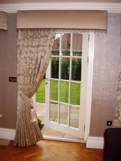 Drapery Ideas Provided In The Curtain Door Terrace Is How To Install Curtains