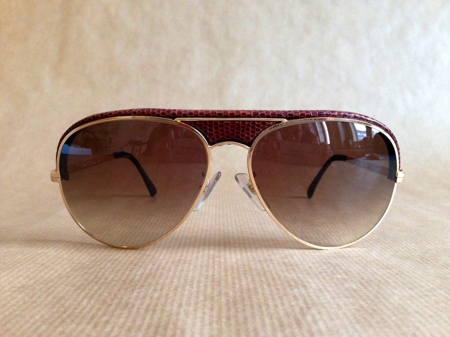57337e8ae4d Charles Jourdan 60 8259 Snakeskin Vintage Sunglasses New Old Stock von  FrenchPartofSweden auf Etsy https