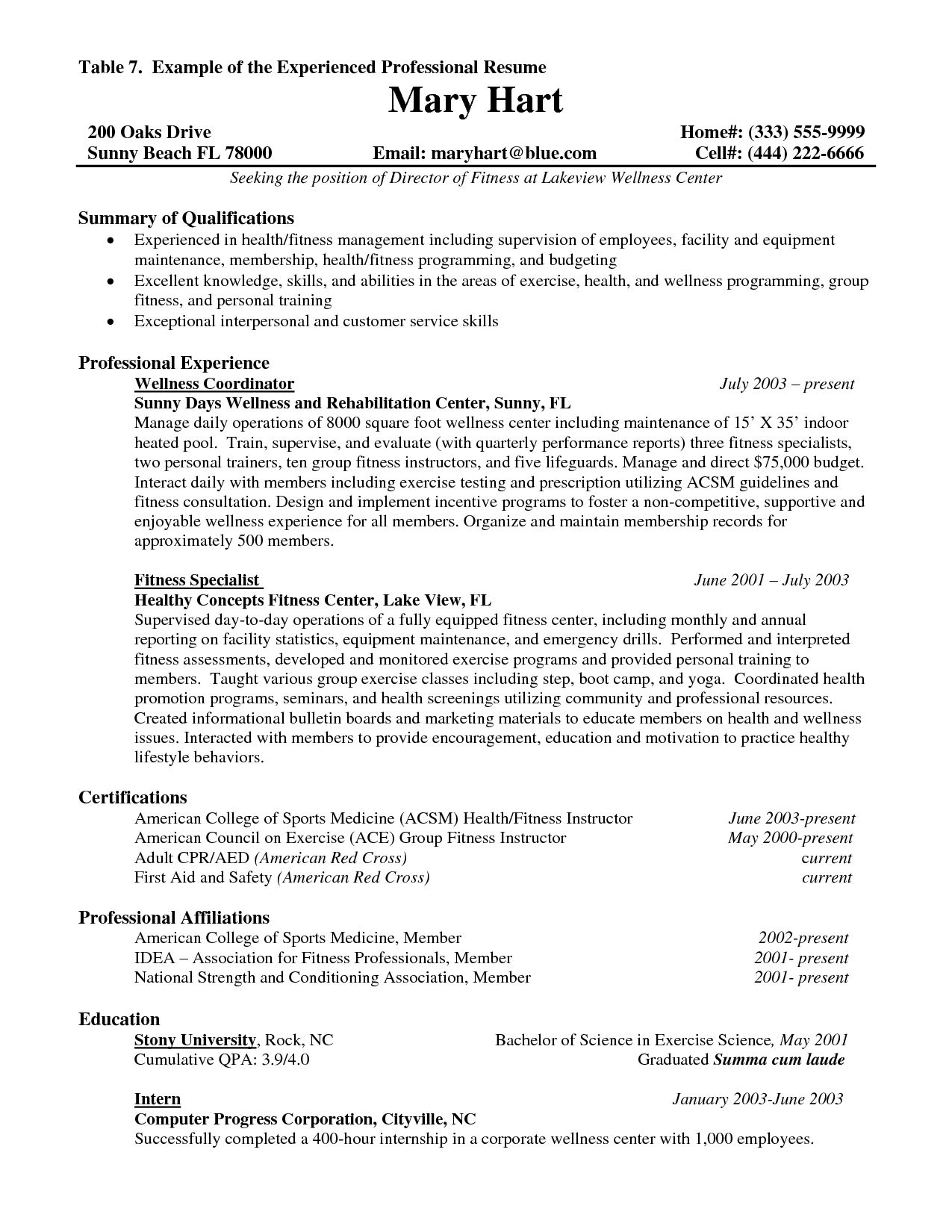 Resume Sample For Experienced Simple Resume Format For Experienced Professional  Resume Format And .