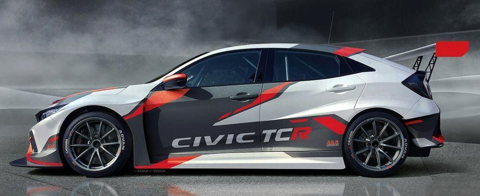 Honda Civic Tcr Honda Civic Civic Rally Car Design