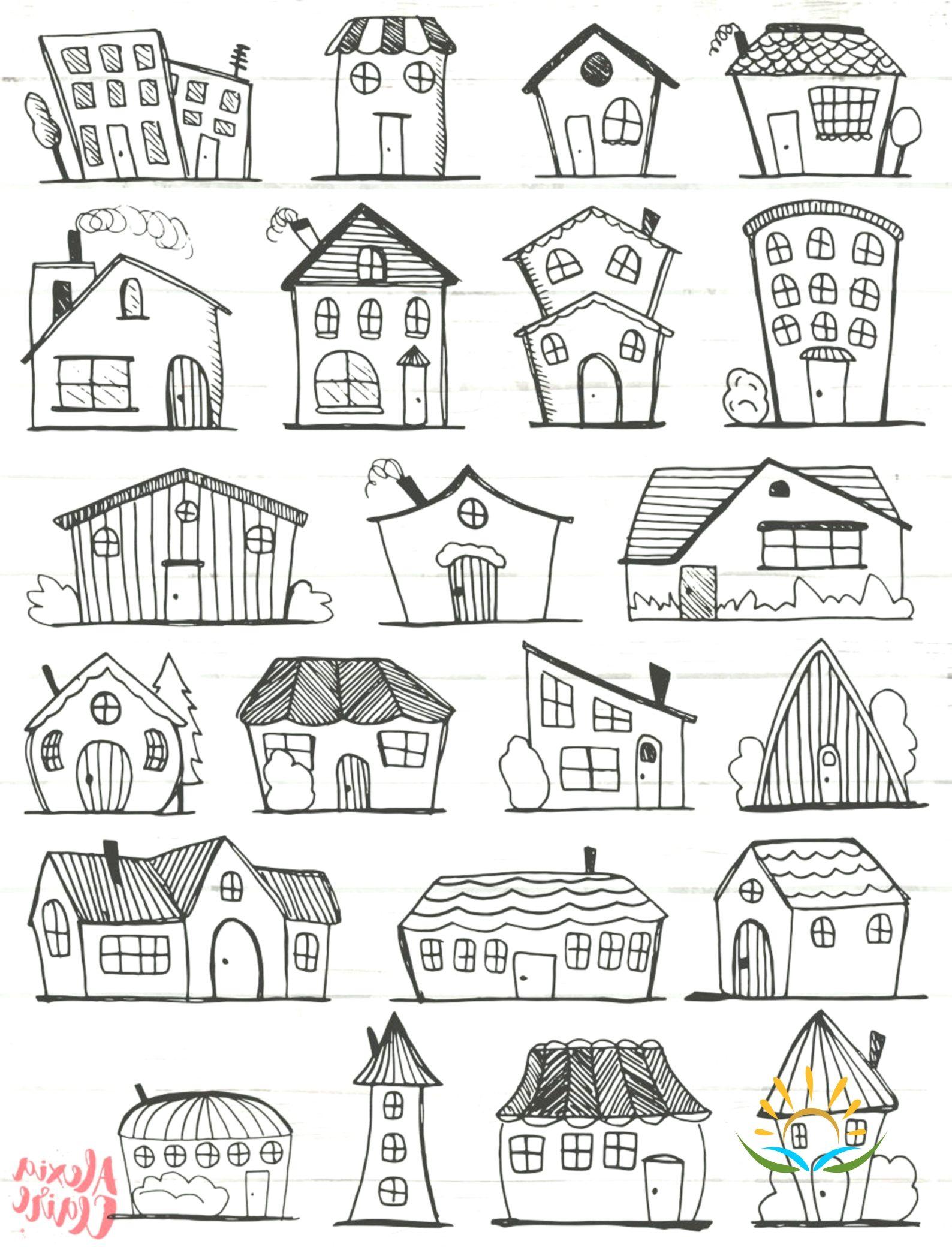 Doodle House Clipart House Vector Art House House City City House Png Home Vect House Illustration House Clipart House Vector