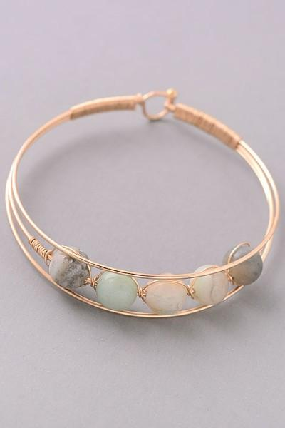 Photo of Stone Bangle Bracelet