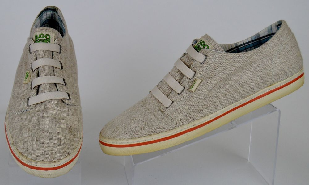 0316141acd2 men s Simple Eco Sneaks biege canvas slip on fashion sneaker Sz. 15 used   SimpleEcoSneaks  FashionSneakers