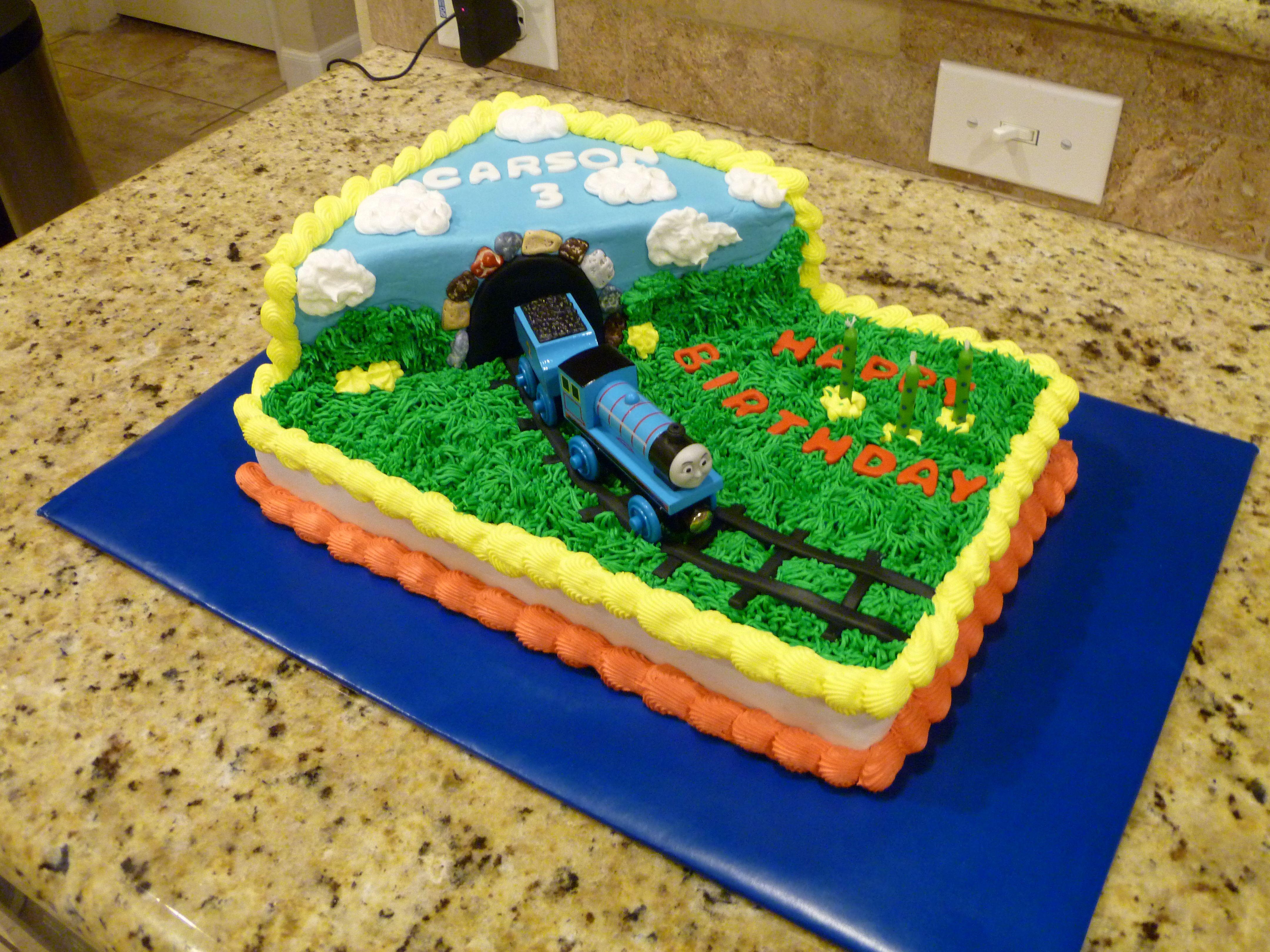 Cool Thomas The Train Birthday Cake Train Birthday Cake Novelty Personalised Birthday Cards Veneteletsinfo