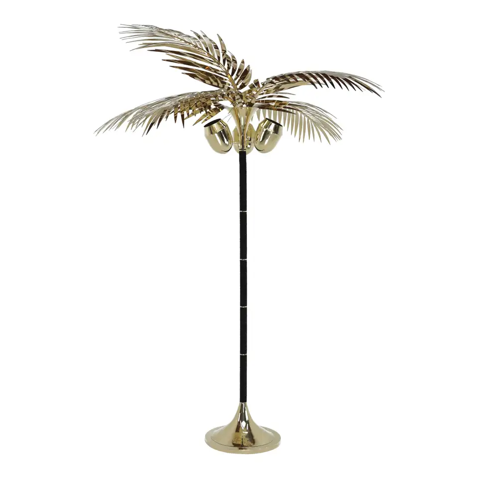 Royal Palm Tree Floor Lamp In Brass And Leather By Christopher Kreiling Studio In 2020 Floor Lamp Tree Floor Lamp Brass Floor Lamp