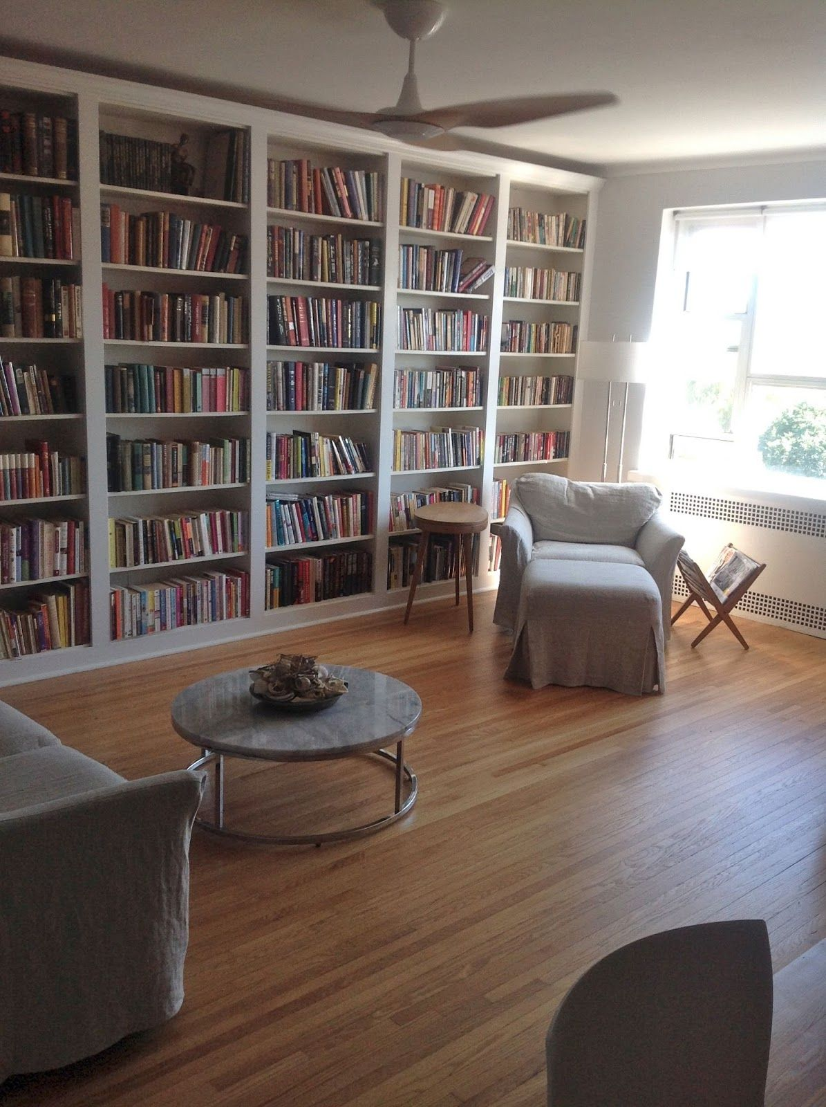 Ikea Home Office Library Ideas: Ikea Hack: Built-In Bookcases