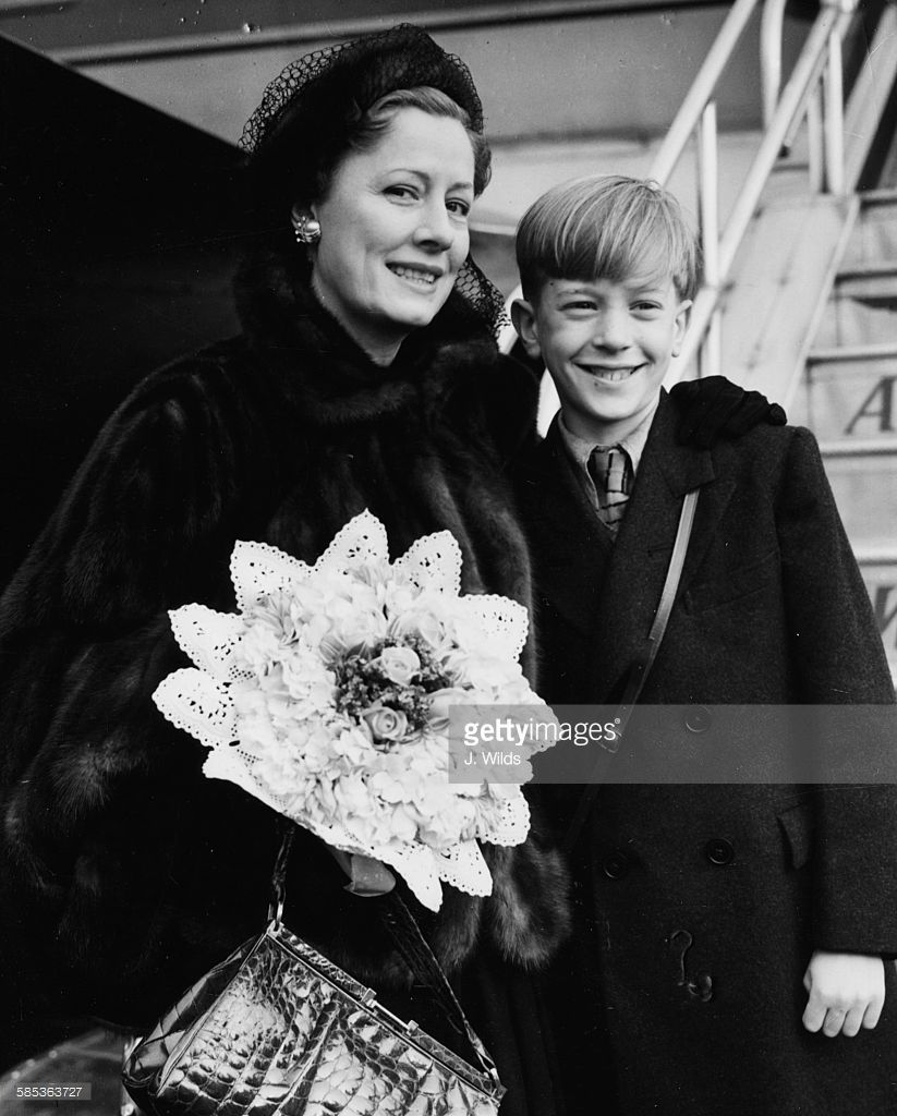Actress Irene Dunne and child actor Andrew Ray, stars of