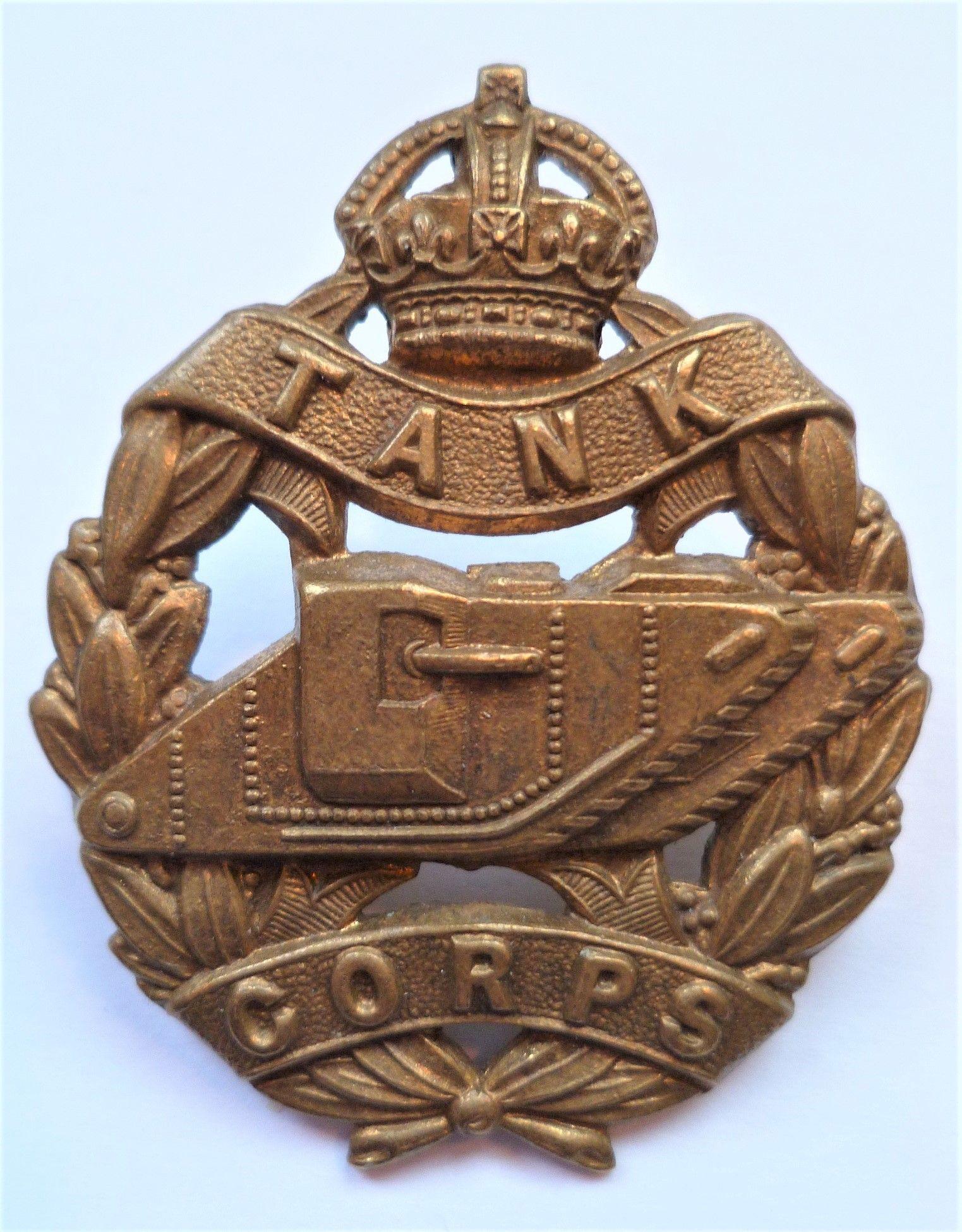 WW1 Tank Corps Cap Badge British Army British Army WWII