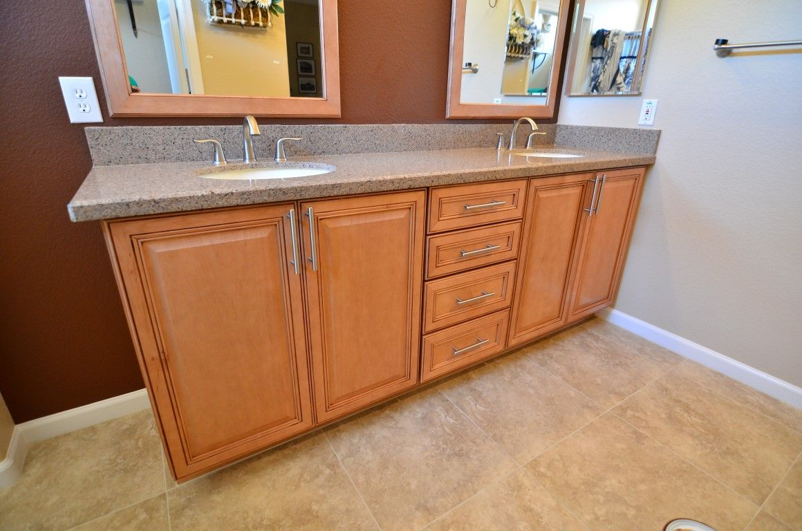 Maple Wellborn cabinets in Concord door style in Light ... on Light Maple Cabinets With White Countertops  id=87619