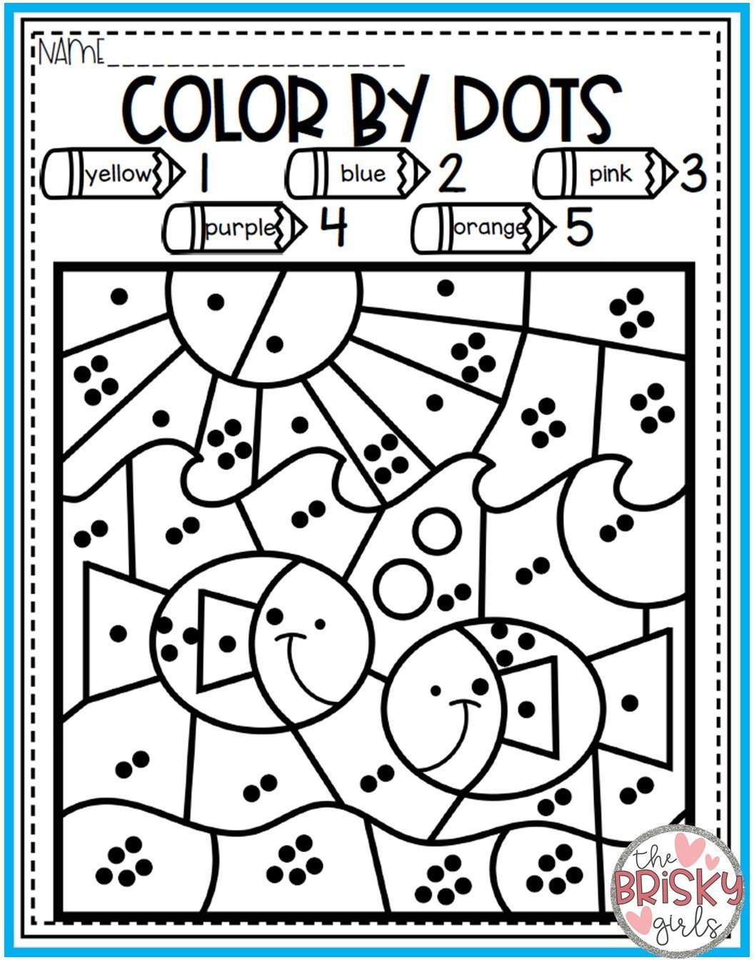 Spring Paint By Number Worksheet   Printable Worksheets and Activities for  Teachers [ 1344 x 1056 Pixel ]