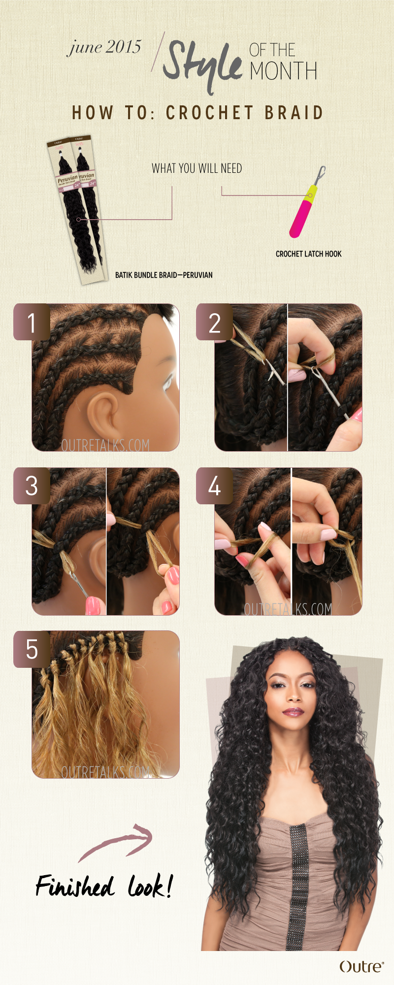 Juneblog hair pinterest crochet braid crochet and june crochet braiding is an installation method for bulk or non wefted hair extensions using a crochet needle aka latch hook needle to pull the hair pmusecretfo Images