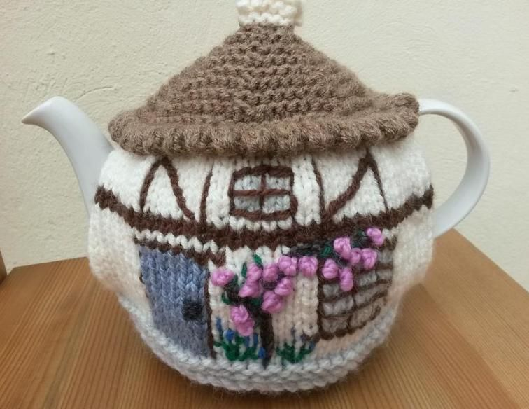 Knitted Cottage Tea Cosies