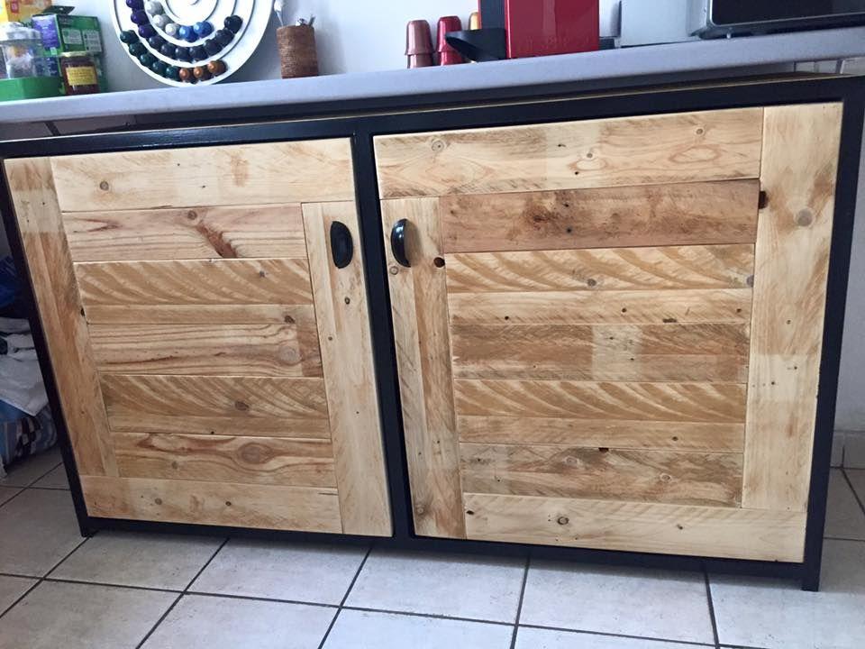 Pallet Wood Sideboard / Kitchen Cabinets | 101 Pallets ...