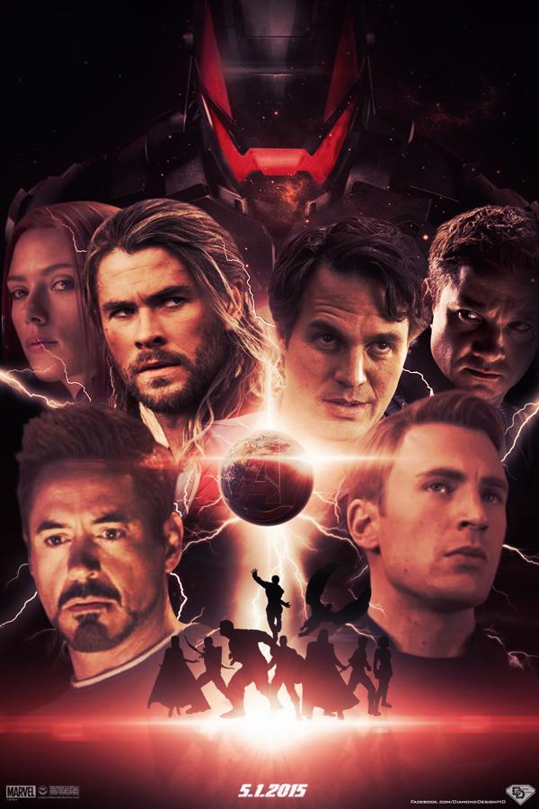 Avengers Age Of Ultron Fan Poster Natasha Romanoff