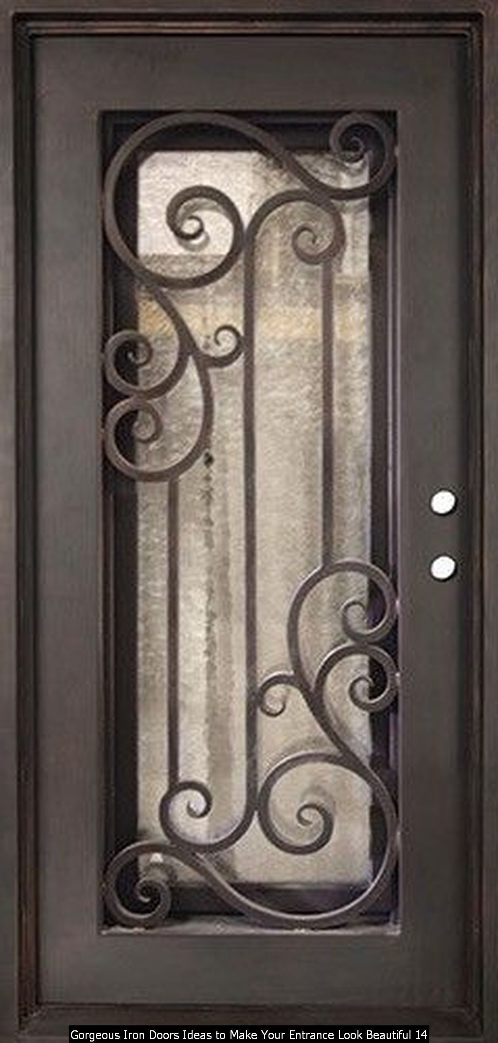 30 iron doors ideas to make your entrance look