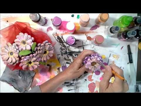 How To Turn Pine Cones Into Lovely Zinnia Flowers Flower Crafts Crafts Pine Cone Flower Wreath
