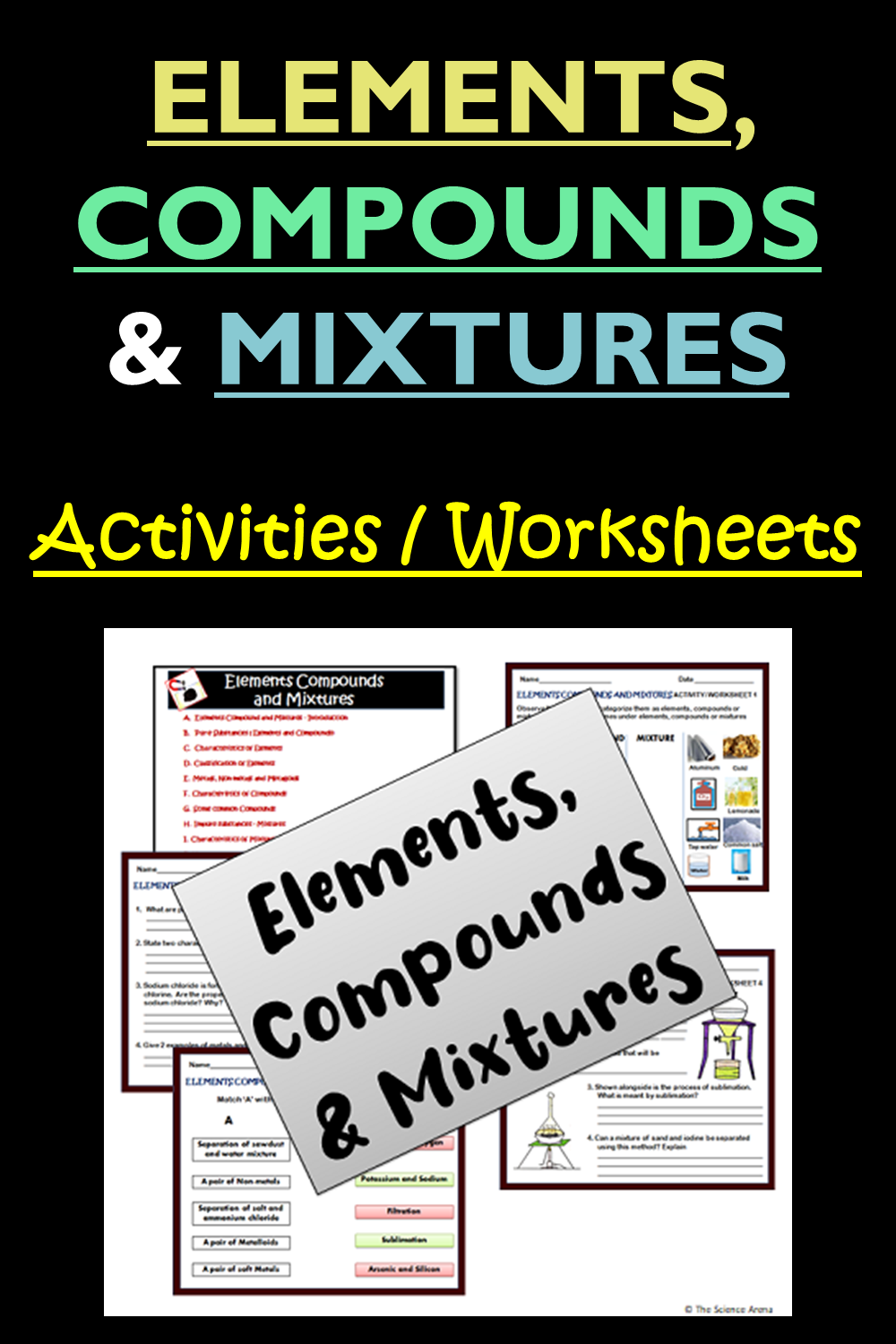 Activities And Worksheets For Elements Compounds And Mixtures Compounds And Mixtures Science Resources Elements Compounds And Mixtures [ 1500 x 1000 Pixel ]