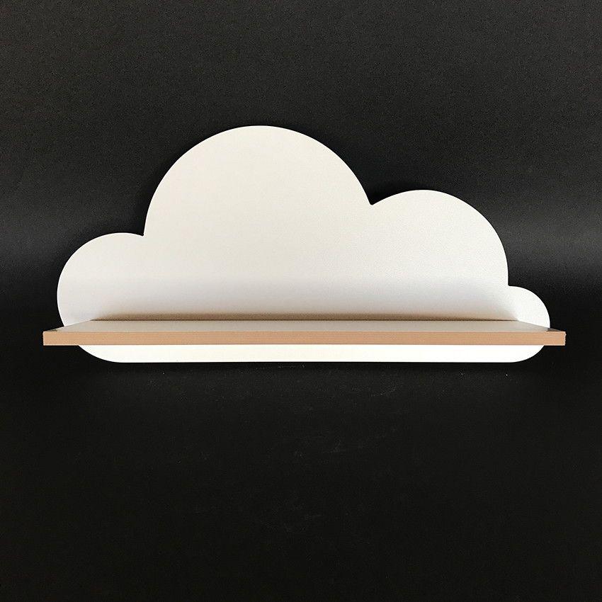 Prateleira De Nuvem Em Mdf Branco Mdf Branco Nuvem